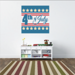 Decorative Square 4th of July Decal