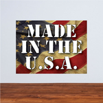 Made in the USA Weathered Flag  Sticker