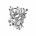 Christmas Decorations Heart and Ornaments Intricate Decal