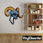 Devil Skull Wall Decal - Vinyl Car Sticker - Uscolor001