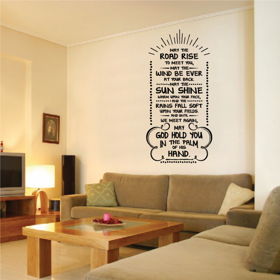 May the Road Rise To Meet You May the wind be ever at your back Irish Blessing Decal