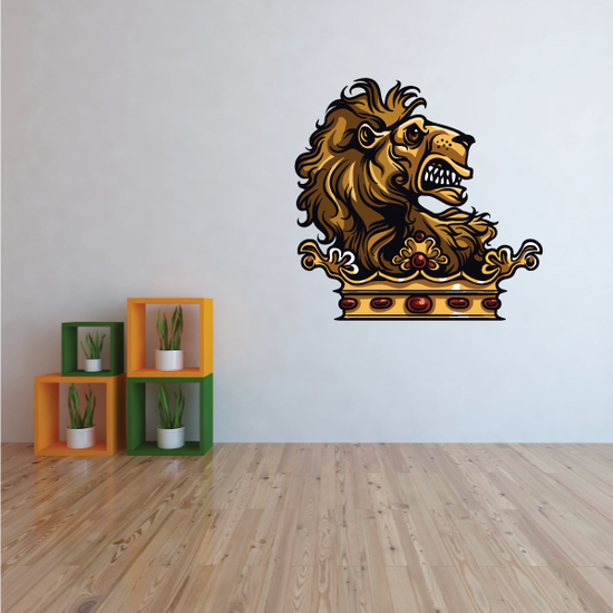 Medieval Lion Crown Sticker