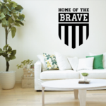 Home of the Brave Shield Decal
