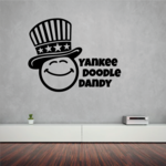 Yankee Doodle Dandy Smiley Decal