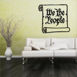 We the People Scroll Decal
