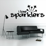 I love Sparklers Decal