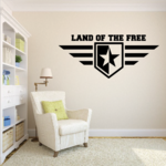 Land of the Free Star Wing Decal