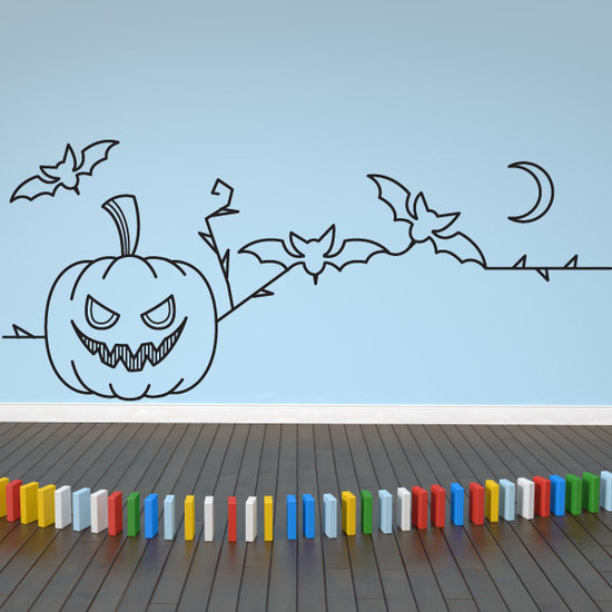 Halloween Line Art Decal