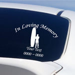 Hawaiian Surfer Custom In Loving Memory Decal