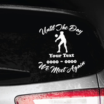 Volleyball Female Custom In Loving Memory Decal