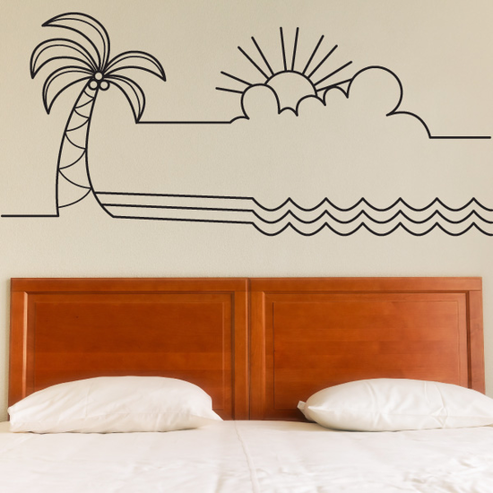 Summer Line Art Decal