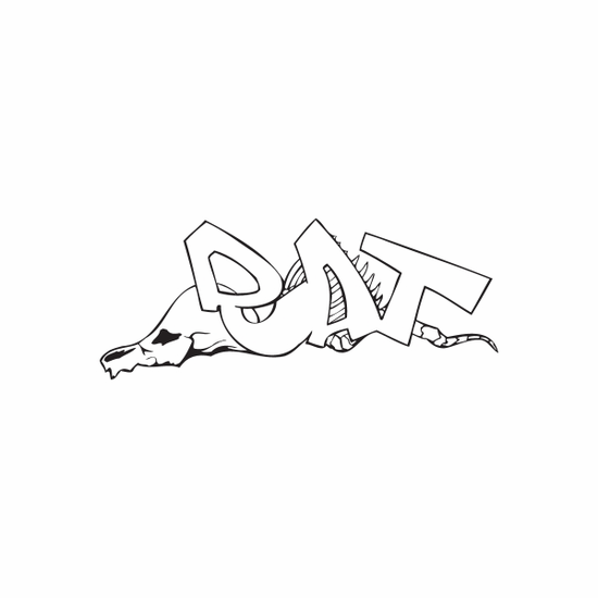 Rat Graffiti Decal