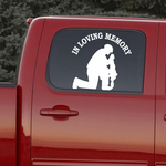 In Loving Memory Soldier Crouching Custom Decal