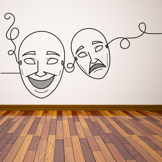 Acting Drama Masks Decal