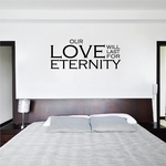 Our Love Will Last For Eternity Decal
