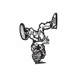 Break Dancing Wall Decal - Vinyl Decal - Car Decal - DC 012