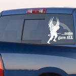 Running Winged Soldier Some Gave All Decal