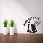 Some Gave All Winged Praying Soldier Decal