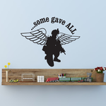 Some Gave All Active Winged Soldier Decal