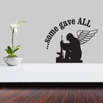 Some Gave All Kneeling Solider Decal