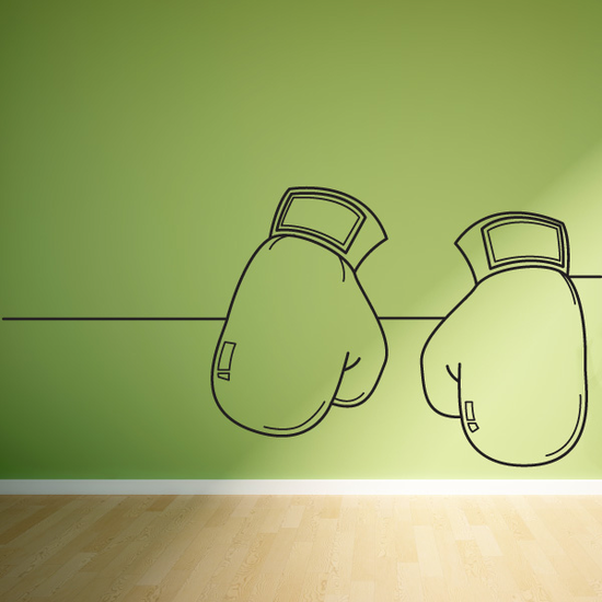 Boxing Line Art Decal