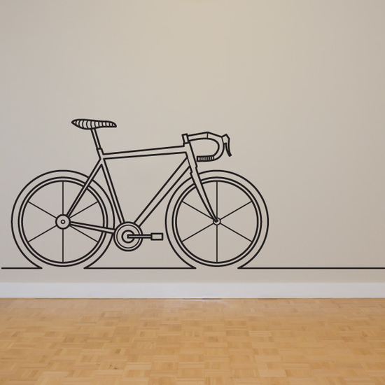 Cycling Line Art Decal