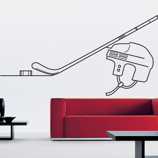 Hockey Line Art Decal
