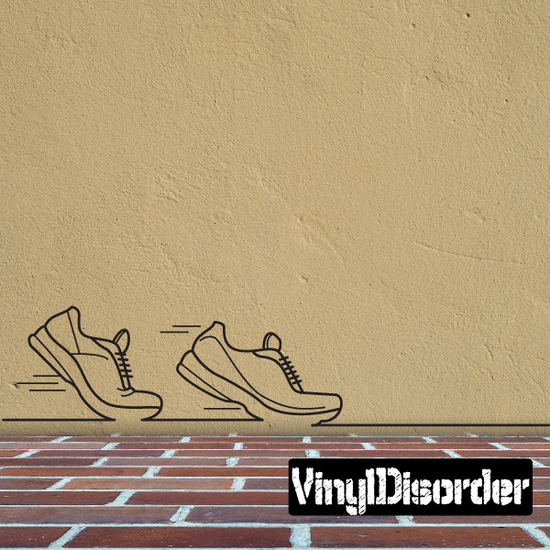 Running Line Art Decal