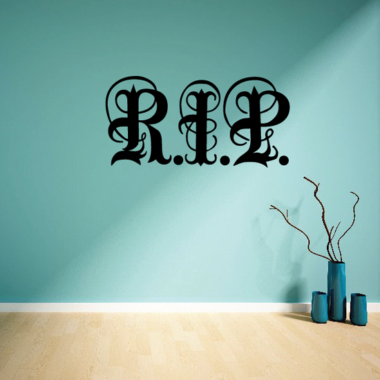 Caligraphic RIP Decal