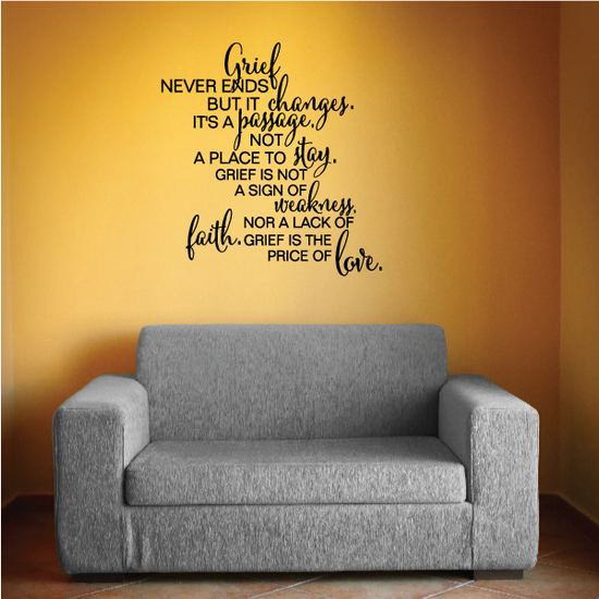 Greif Never Ends But it Changes Wall Decal