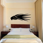 Eagle Head Tribal Vehicle Pinstripe Vinyl Decal - Car Decal - Wall Decal - MC013