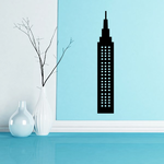 Tall Building with Windows Decal
