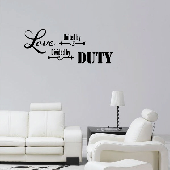 United By Love Driven By Duty Wall Decal