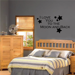 I Love You To The Moon And Back with Stars Decal