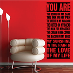 Love of My Life Word Collage Decal