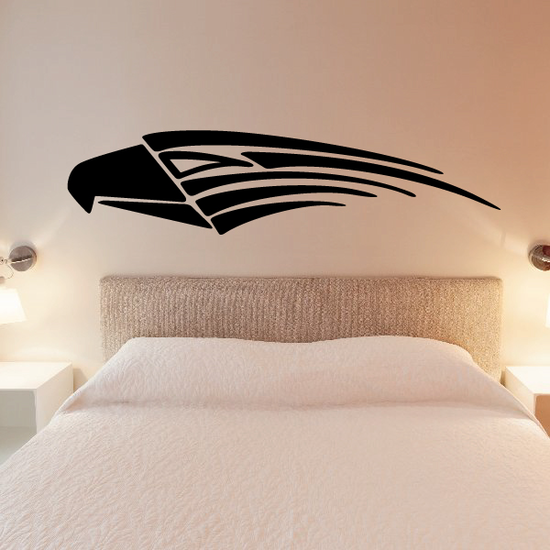 Eagle Head Tribal Vehicle Pinstripe Vinyl Decal - Car Decal - Wall Decal - MC019