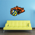 Water Polo Mascot Wall Decal - Vinyl Car Sticker - Uscolor001