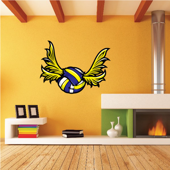 Flying Water Polo Wall Decal - Vinyl Car Sticker - Uscolor002