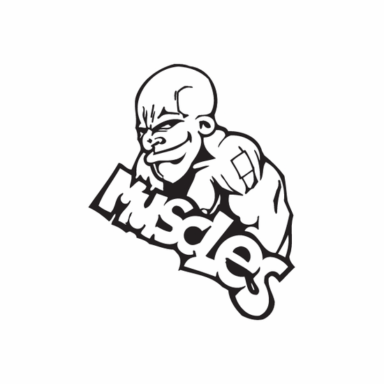 Muscles Graffiti Decal