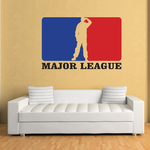 Major Leage Salute Printed Die Cut Decal