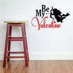 Be My Valentine Cupid Decal