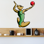 Water Polo Wall Decal - Vinyl Sticker - Car Sticker - Die Cut Sticker - CDSCOLOR004