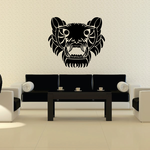 Tiger Face Tribal Vehicle Pinstripe Wall Decal - Vinyl Decal - Car Decal - MC84