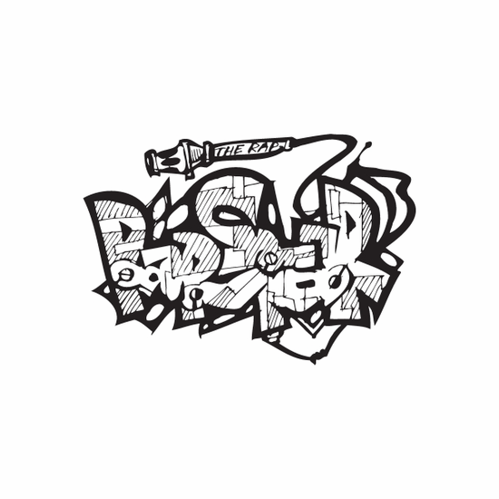 Rap Star Graffiti Decal