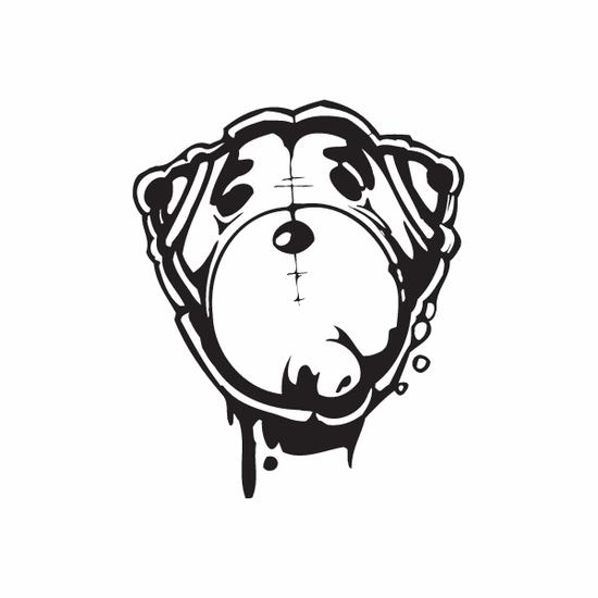 Bear Graffiti Decal