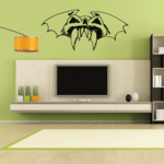 Skull Fanged Bat Wall Decal - Vinyl Decal - Car Decal - CF315