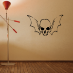 Skull Winged Head Wall Decal - Vinyl Decal - Car Decal - CF321