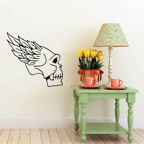 Skull Wall Decal - Vinyl Decal - Car Decal - CF395