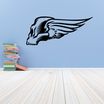 Winged Skull Wall Decal - Vinyl Decal - Car Decal - MC26