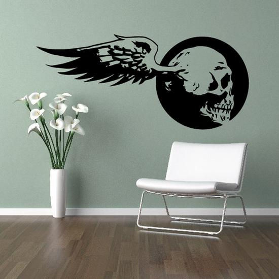 Skull Wall Decal - Vinyl Decal - Car Sticker - CD12028